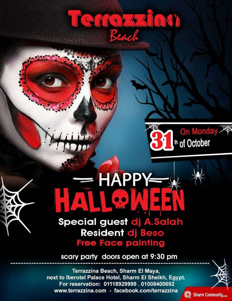 Happy Halloween Party on Tuesday 31st October from 9:30pm @ Terrazzina Beach