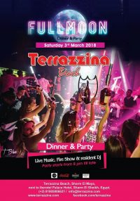 Full Moon Party on Saturday 3rd March from 8pm till late @ Terrazzina Beach