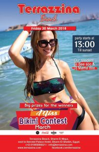 Bikini Contest on Friday, March 30th from 1pm @ Terrazzina Beach