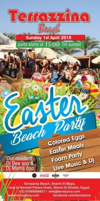 Easter Beach Party - Sunday, April 1st from 1pm @ Terrazzina Beach