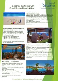 Celebrate the Spring with Grand Rotana Resort & Spa - Sharm el Sheikh