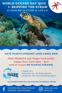 NO PLASTIC STRAWS - Camel Bar celebrates World Ocean Day on 8 June