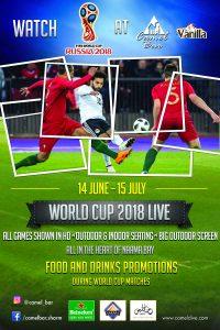 World Cup 2018 Live at Camel Bar from 14 June