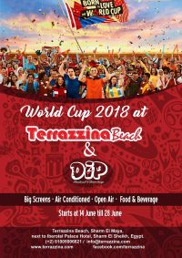 World Cup 2018 @ Terrazzina Beach & DIP -  Big Screen, Air Conditioned, Open Air, Food & Beverage