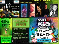 Live Sport every day at Ghazala Beach and Crazy Beach Party with foam on Saturday 30 June 10pm