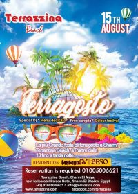 Ferragosto Party with Free Sangria on Wednesday, August 15th from 1pm till late @ Terrazzina Beach