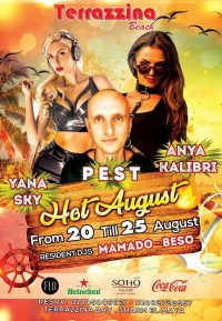 Hot August from Today 20th till 25th @ Terrazzina Beach