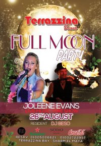 Full MoonParty on Sunday, August 26th @ Terrazzina Beach