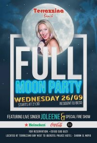 Full Moon Party on Wednesday, September 26th @ Terrazzina Beach