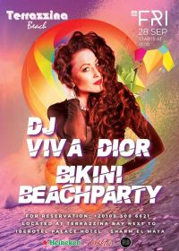 Bikini Beach Party on Friday, September 28th from 1pm @ Terrazzina Beach
