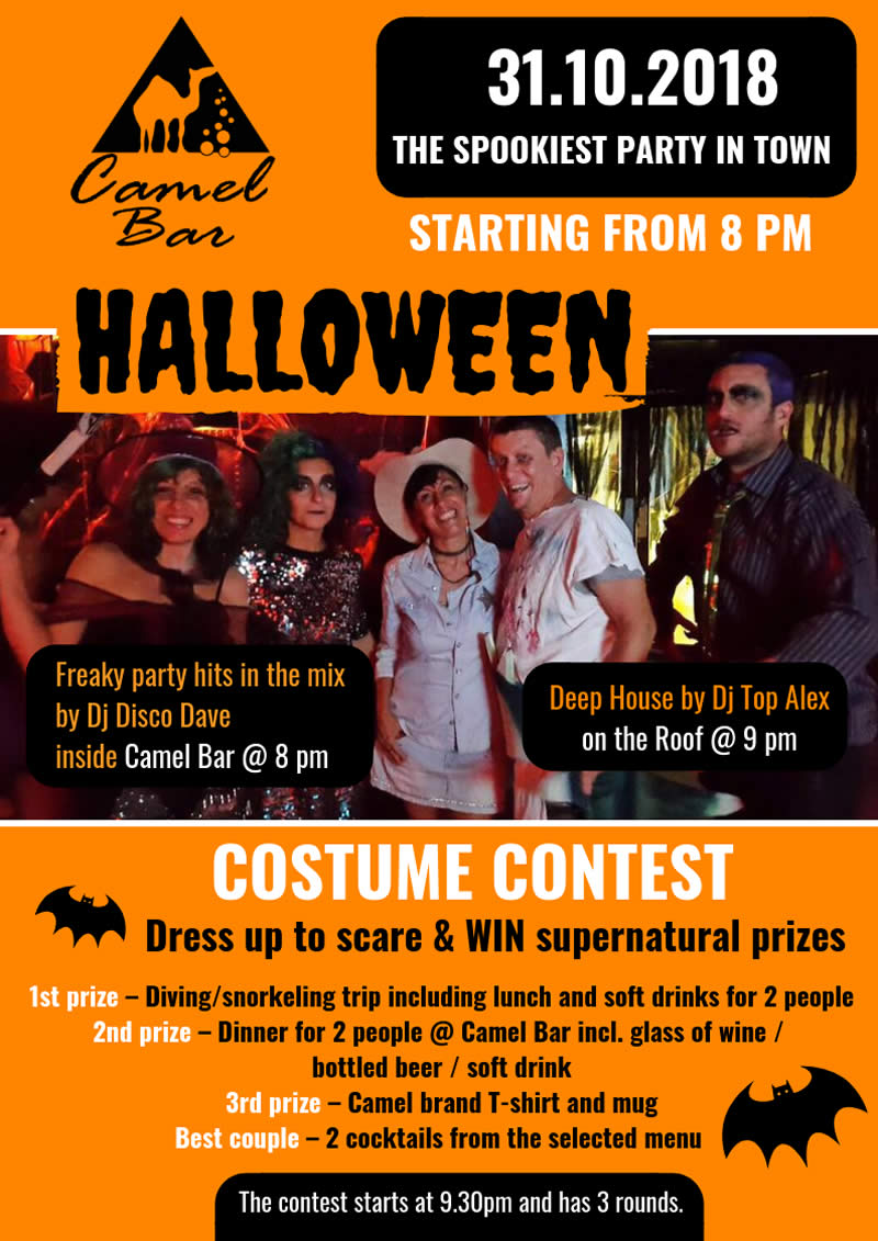 Halloween Party @ Camel Bar - DJs, Fancy Dress contest and mysterious cocktails