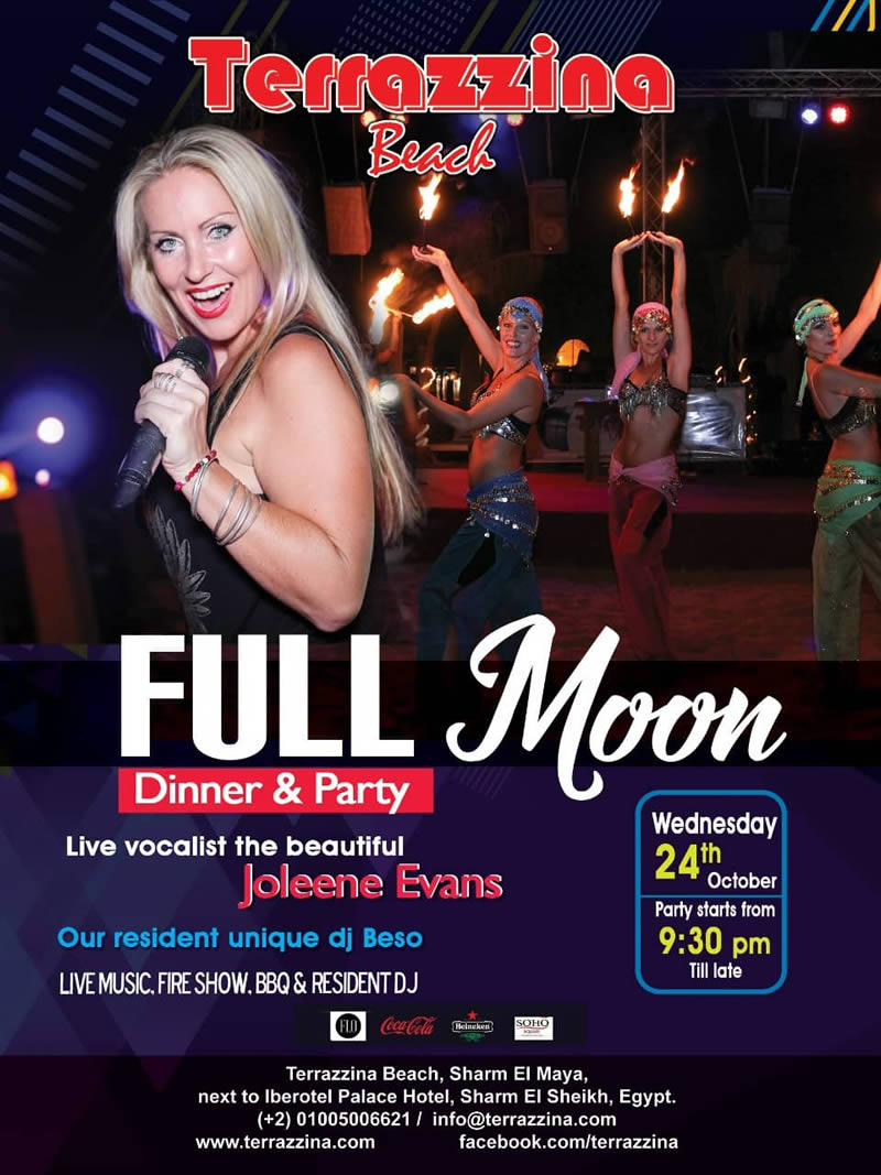 Full Moon Party on Wednesday, October 24th @ Terrazzina Beach