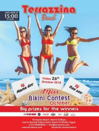 Bikini Beach Party on Friday, October 26th from 1pm @ Terrazzina Beach