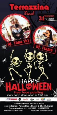 Happy Halloween Scary Party on Wednesday, October 31st from 9.30pm @ Terrazzina Beach
