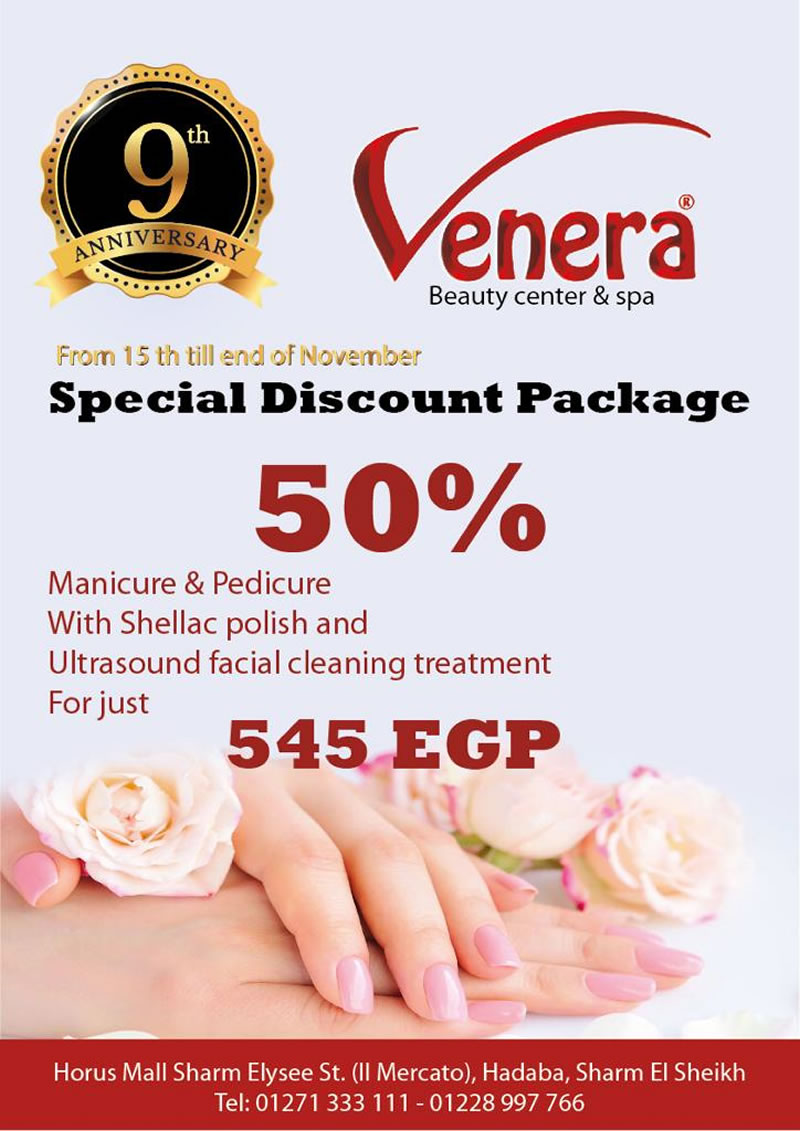 Special Discount Package from 15th till end of November @ Venera Beauty Center & Spa