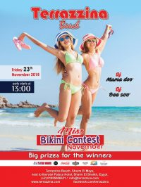 Bikini Beach Party on Friday, November 23rd from 1pm @ Terrazzina Beach