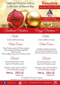 YOU are invited - Christmas dinner in the heart of Naama Bay @ Camel Bar & Pomodoro