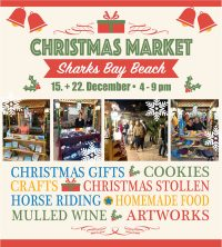 Welcome to the Magical Christmas Market - Sharks Bay Beach on 15 & 22 December from 4pm