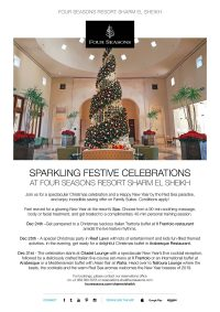 Sparkling Festive Celebrations at Four Seasons Sharm El Sheikh