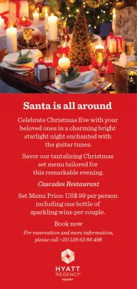Santa is all around. Celebrate Christmas Eve with your beloved ones @ Hyatt Regency Sharm El Sheikh