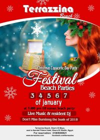 Christmas Copacetic Day Festival Beach Parties on 3,4,5,6 & 7 January @ Terrazzina Beach