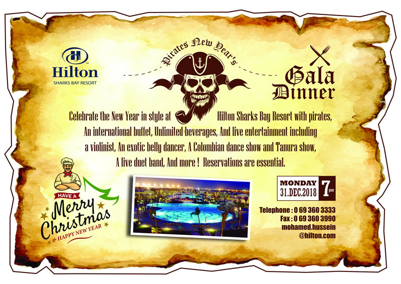 Pirates New Year's Gala Dinner at Hilton Sharks Bay Resort