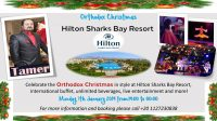 Celebrate Orthodox Christmas in style at Hilton Sharks Bay Resort on Monday 7th January from 7pm