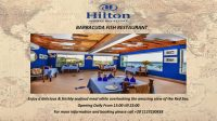 Enjoy a delicious & freshly seafood meal while overlooking the amazing view of the Red Sea @ Barracuda Fish Restaurant Hilton Sharks Bay Resort