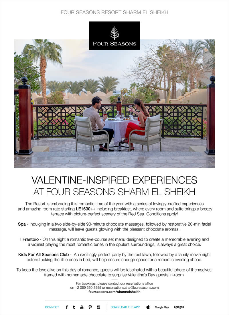 Valentine-Inspired Experiences at Four Seasons Sharm El Sheikh