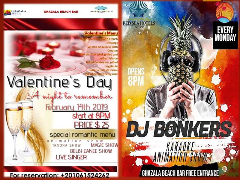 Valentine's Day A Night to Remember @ Ghazala Beach Bar