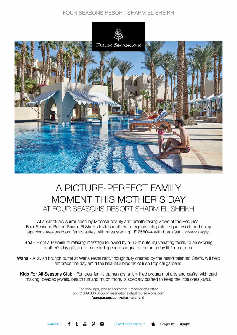 A Picture-Perfect Family Moment this Mother's Day at Four Seasons Resort Sharm El Sheikh