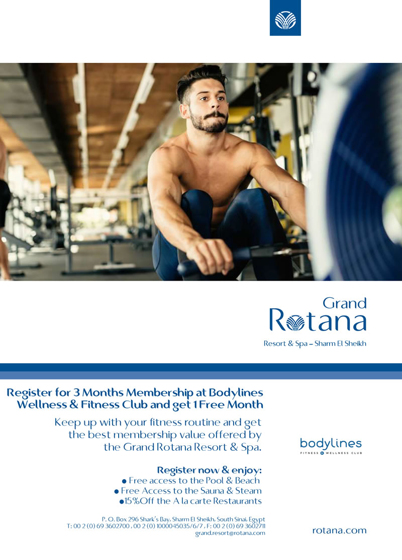 3 Months Membership and Get 1 Month Free at Bodylines Wellness & Fitness Club @ Grand Rotana Resort & Spa