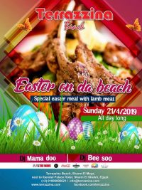 Easter on da beach - Special Easter Meal with lamb meat on Sunday April 21st all day long @ Terrazzina Beach