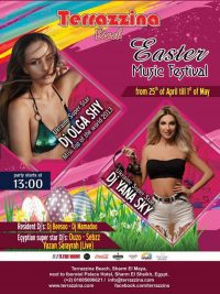 Easter Music Festival from April 25th till May 1st from 1pm @ Terrazzina Beach