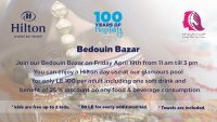 Join our Bedouin Bazar on April 19th 11am - 3pm with Pool Day Use for only 100LE @ Hilton Sharks Bay Resort