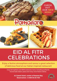 Eid al Fitr celebration at Pomodoro restaurant - Enjoy a special treat.