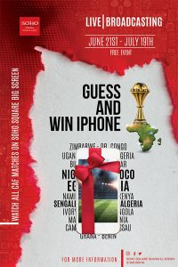 Guess the Score During African Cup of Nation  Matches and get a chance to win IPhone. More info call 01000109109