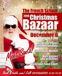 French School's Christmas Bazaar on Friday December 6 from 10am - Meet Santa!