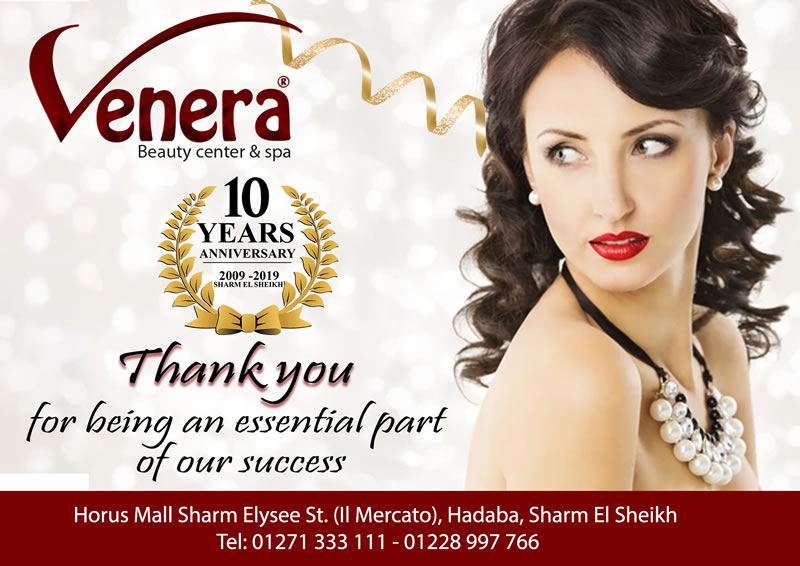 Venera Beauty Center & Spa 10 Years Anniversary - Thank you for being an essential part of our success
