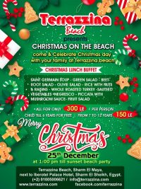 Christmas on the beach. Come & celebrate Christmas Day with your family @ Terrazzina Beach