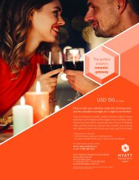 The perfect couple's romantic gateway, the Hyatt Sharm el Sheikh Valentine's Day Dinner