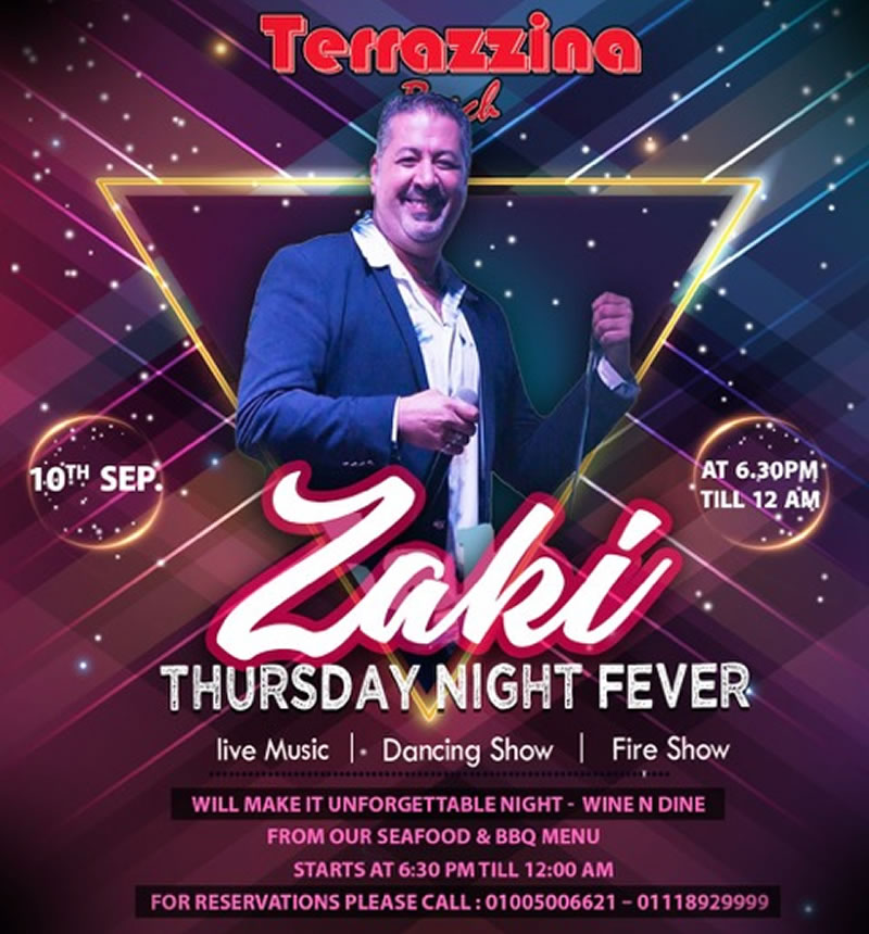 Thursday Night Fever, Live Music, Dancing & Fire Show on September 10th from 6.30 PM  @ Terrazzina Beach
