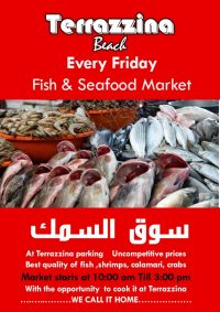 Fish & Seafood Market every Friday 10am - 3pm at Terrazzina Beach - Opportunity to have it cooked