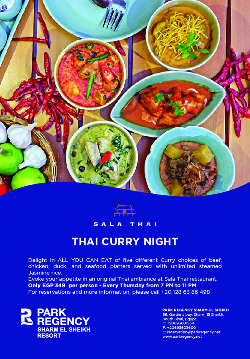 All You Can Eat Curry Night - only EGP 349 at Sala Thai - Park Regency